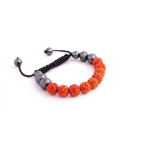 Náramek Shamballa S1 Orange