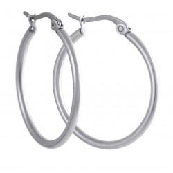 Náušnice kruhy  40 mm z chirurgické oceli Aura